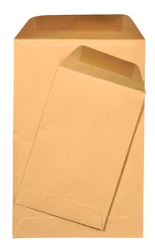 Gallery loonzakjes ft 65 x 105 mm, gegomd, bruine kraft, doos van 1000 stuks