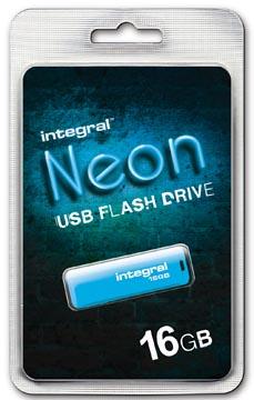 Integral Neon USB 2.0 stick, 16 GB, blauw