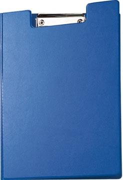 Maul klemmap met kopklem en insteekmap, uit PP, voor ft A4, blauw
