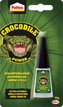 Pattex Crocodile Power secondelijm, tube van 10 gr, op blister