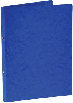 Bronyl ringmap, voor ft A4, uit glanskarton, 2 ringen van 16 mm, blauw