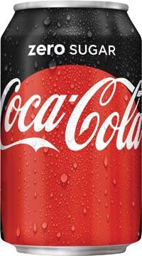 Coca-Cola Zero frisdrank, blik van 33 cl, pak van 30 stuks
