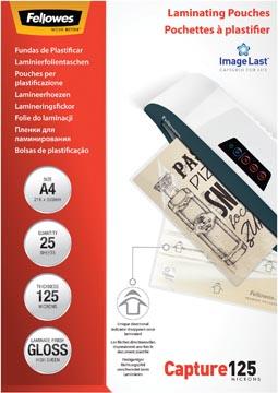 Fellowes lamineerhoes Capture125 ft A4, 250 micron (2 x 125 micron), pak van 25 stuks
