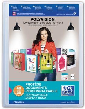 OXFORD Polyvision personaliseerbare presentatiealbum, formaat A4, uit PP, 20 tassen, transparant