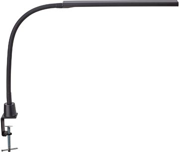 Maul bureaulamp MAULpirro, LED-lamp, dimbaar, met tafelklem, zwart