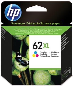 HP inktcartridge 62XL, 415 pagina's, OEM C2P07AE, 3 kleuren
