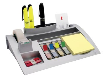 Post-it Index desk organizer, zilver, voor ft 26 x 16,5 x 5,5 cm