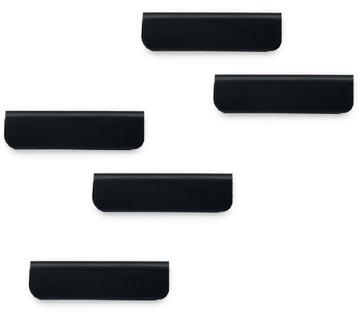 Durable Durafix zelfklevende magneetklem, 60 mm, pak van 5 stuks, zwart