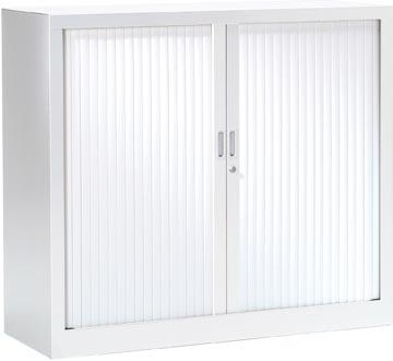 Roldeurkast, hoogte 100 cm, wit
