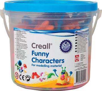 Creall boetseeraccessoires Funny Characters, emmertje met geassorteerde figuren