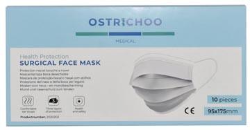 Chirurgisch mondmasker, type IIR, 3- laags, met CE certificaat, doos van 10 stuks