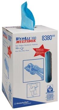 Wypall reinigingsdoeken X60, handige doos met 150 doeken