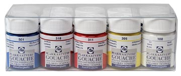 Talens plakkaatverf Extra Fijn flacon van 16 ml, set met 10 flacons in geassorteerde kleuren