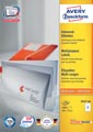 Avery Zweckform 3427, Universele etiketten, Ultragrip, wit, 200 vel, 8 per vel, 105 x 74 mm