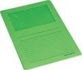 Pergamy L-map met venster, pak van 100 stuks, groen